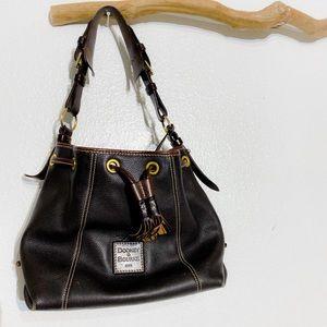 Dooney & Bourke Bucket Large Dark Brown Bag